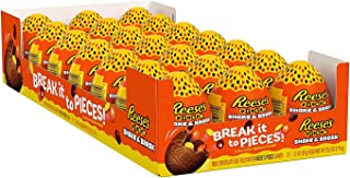 Reese's Milk Chocolate Eggs filled with Reese's Pieces Candy, Easter Gifting Partying Stuffing, 21 Count Reese's Milk Choc...