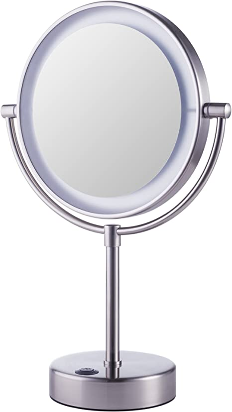 Ikea Kaitum Illuminated Magnifying Vanity Mirror With Lights Bathroom And Make Up Use Amazon De Home Kitchen