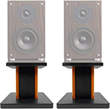 "(2) 8"" Wood Bookshelf Speaker Stands for Fluance SX6W Bookshelf Speakers"