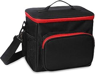 FANDARE Lunchtasche Kühltasche Lunch Bag Thermotasche Eistasche Picknicktasche Mittagessen Tasche Isoliertasche Wasserdicht für Herren Damen Arbeit Schule Ausflug Schwarz