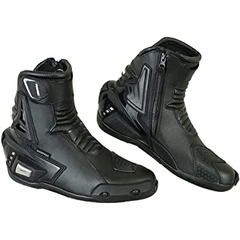 EU 38 Black 4 Profirst Global Adventure Motorbike Motorcycle Racing Armour Sports Boot Waterproof Touring Shoes for Mens