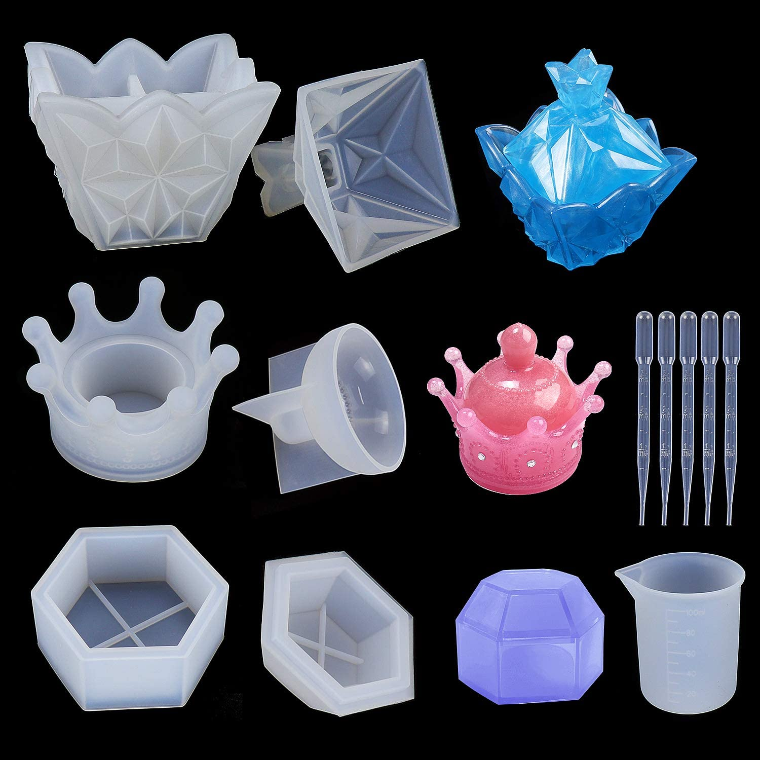 Dreamtop Jewelry Box Silicone Outstanding Animer and price revision Molds DIY Resin