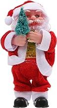 KESYOO Electric Santa Claus Doll Christmas Santa Clause Figurine Plush Santa Doll for Xmas Holiday Seasonal Party Favor Ta...