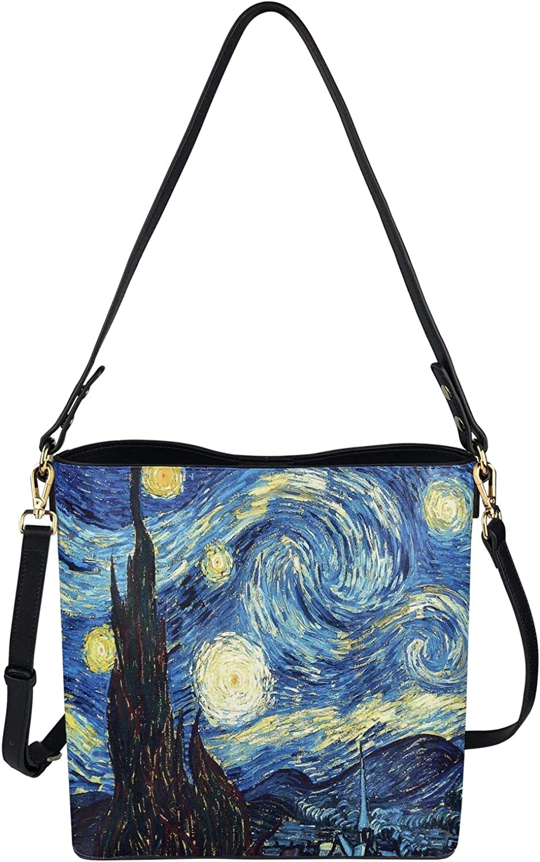 FKELYI Handbags for Women Hobo Bag Bucket Bags Ladies Luxurious Crossbody Bag Purse Satchel with 2 Stripes