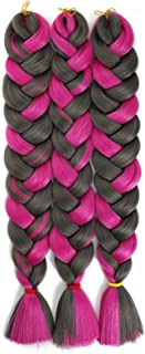 Sponsored Ad - Jumbo Braiding Hair 165g Ombre Kanekalon Braid Hair Extensions 82Inch African Long Jumbo Braids for Box Bra...