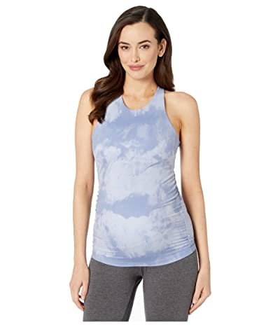 Beyond Yoga Maternity Back At You Shirred Tank (Serene Blue Smoke) Women