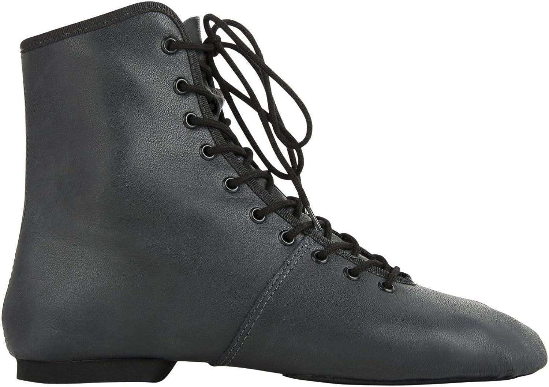 Rumpf 4125 Garde Karneval Folklore Tanz Stiefel Schuhe Geteilte Gummisohle Farben schwarz und Weiß