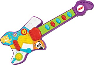 Fisher-Price – Jump 'N' Jam Guitar, Realistic Electronic Musical Toy, Developmental Musical Instrument, Educational Toy, Learn to Play Guitar, Toddler, Ages 3+