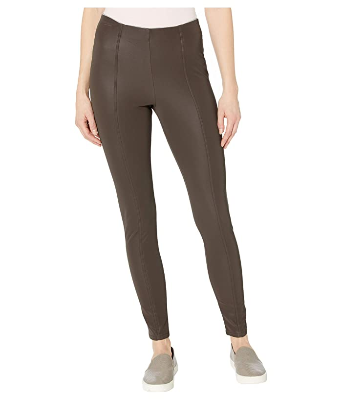 KENDALL + KYLIE  Pebbled Faux Leather Leggings (Mulch) Womens Casual Pants