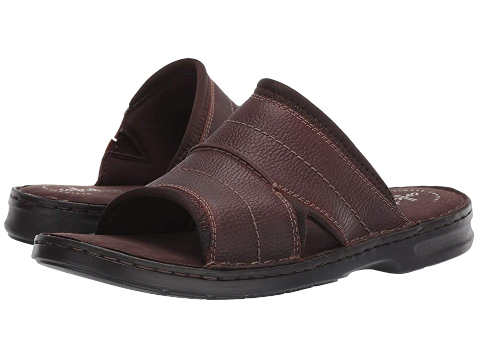 Clarks Malone Easy (Dark Brown Tumbled Leather) Men
