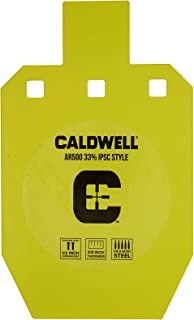 Caldwell High Caliber AR500 Steel Targets 3/8 Inch Thickness, Rifle Rated for Precision Shooting and Target Practice with 3 Hanging Options (Sold Separately)