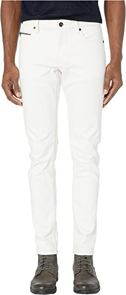 Chelsea Zipper Fly Ulta Slim Fit Jeans in White J332ZV1