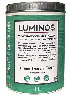 Luminos LUM1105 -EMERALD GREEN - Lasur Protector para Madera color Verde Esmeralda 1Litro