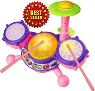 Vtech KidiBeats Pink Exclusive Drum Set Kids Music Girl Toys Toddlers Baby Gift