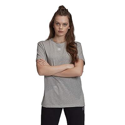 adidas Originals Trefoil T-Shirt (Medium Grey Heather) Women