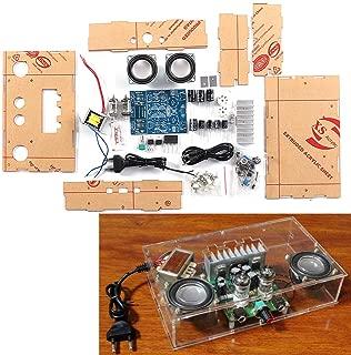 ILS - DIY 6J1 Tube Preamp Amplifier Board Pre-amp Headphone Amp 6J1 Valve Preamp Bile Buffer DIY Kits with 12v Dual Power Shell Speaker