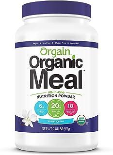 Orgain Organic Plant Based Meal Replacement Powder, Vanilla Bean - 20g Protein, Vegan, Dairy Free, Gluten Free, Lactose Fr...