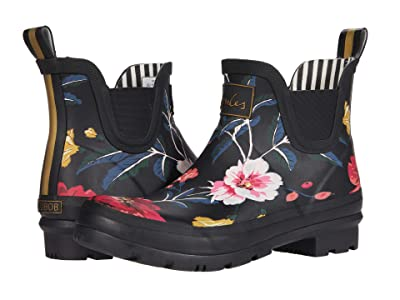 Joules Wellibob (Black Floral 1) Women