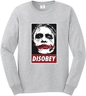 Graphic Impact Inspired Joker Face Disobey Vector Villain Sweatshirt