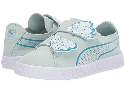 Puma Kids Suede Deconstruct Butterfly V (Little Kid) (Fair Aqua/Caribbean Sea/Puma White) Girls Shoes