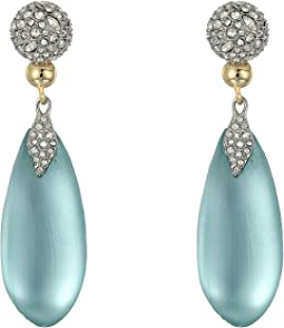 Alexis Bittar - Crystal Encrusted Dangling Lucite Post Earrings