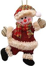 smile-bi 2018 Merry Christmas Santa Claus Snowman Tree Toy Hang,Multicolour A