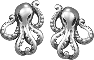 Jewelry Sterling Silver Octopus Stud Earrings