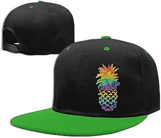 Adgjhbvn Unisex Kids Baseball Cap Pineapple Rainbow Adjustable Hip Hop Hat Gorras de Hip Hop de béisbol