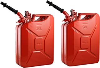 3X Jerry Can Gas Gasoline Metal Steel Tank 5 Gallon 20L  Fuel Army Army Backup