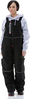 Women's Water-Resistant Insulated Softshell Bib Overalls with Reflective Piping