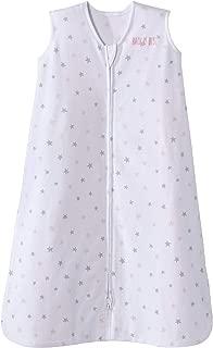 Halo Sleepsack Cotton Wearable Blanket, Pink Stars, Medium