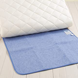 西川リビング からっと寝 調湿シート ブルー セミダブル 90×180cm 除湿パッド 吸湿 0172