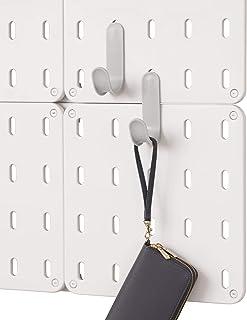 "iDesign BPA-Free Plastic Modular Hanging Pegboard Organizer Single Storage Hooks, Gray, 4.88"" x 2.67"" x 1.25"""