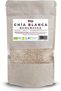 Semillas de Chía Blanca |100% Ecológica| 500 g | Vegana | Sin Gluten | Alto Contenido de Omegas y Minerales | Elimina Toxinas | Ricas en Fibra y Antioxidantes | Alto Poder Energético