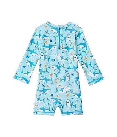 Hatley Kids Shark Party One-Piece Rashguard (Infant)