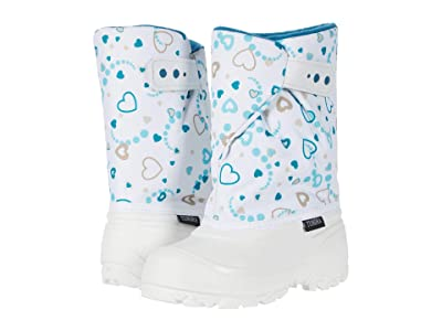Tundra Boots Kids Teddy (Toddler/Little Kid) (White/White Heart) Girls Shoes