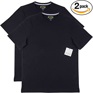 Pure Pima Ultra Soft Pima Cotton T Shirt 2-Pack - S/S Crew - Black / Black,Medium,Black / Black