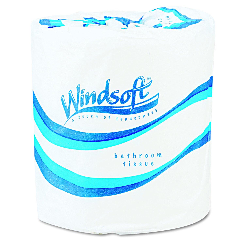 Windsoft 2200 Single Roll Two Ply Sheet Very popular! Bath Premium 500 Los Angeles Mall Tissue