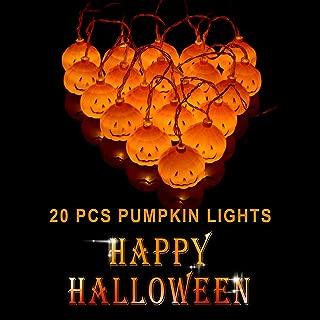 EFGTEK Halloween 20LED Pumpkin String Lights 3D Halloween Orange Pumpkin Lights Decor for Outdoor Garden, Yard, Patio, Xmas Tree, Party, Home Decoration