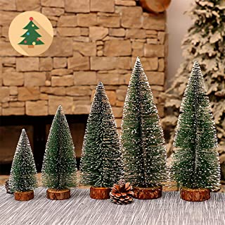 CXDcity Desktop Miniature Pine Tree Tabletop Christmas Tree Small Pine Tree Decor Christmas Tree Toppers