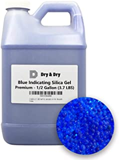 DRY&DRY Half(1/2) Gallon Replacement Desiccant Indicating Silica Gel Beads Reusable, Blue