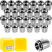 SILIVN ER32 Spring Collet Set for CNC Engraving Machine and Milling Lathe Tool Workholding Engraving Collets(26PCS)