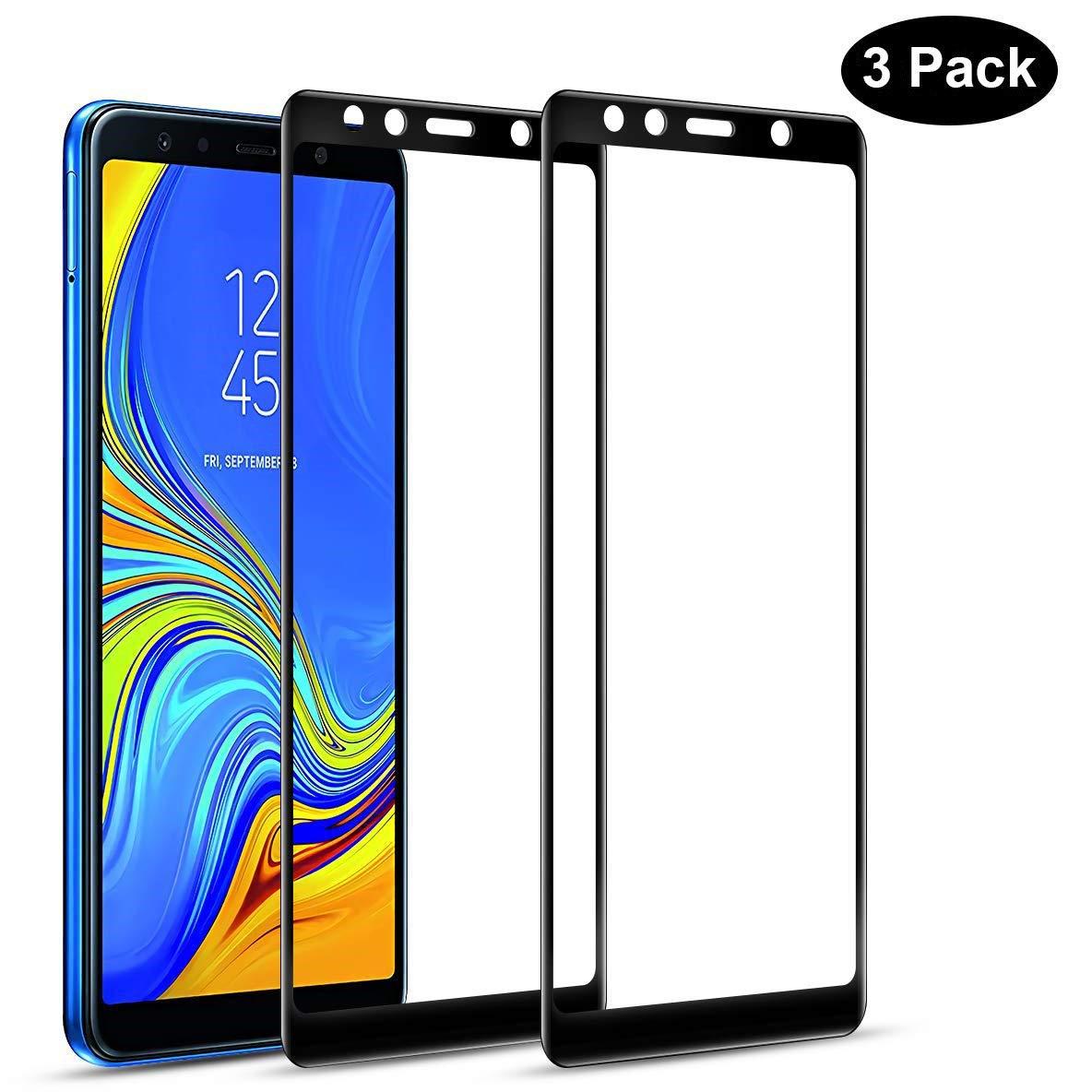Flysee Protector de Pantalla para Samsung Galaxy A7 2018, [3 ...