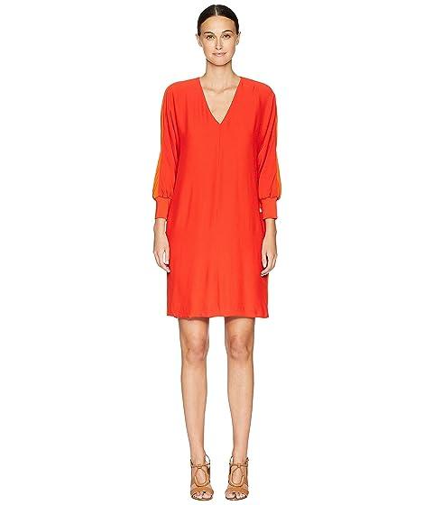 ESCADA Dilinda Cuffed 3/4 Sleeve V-Neck Dress