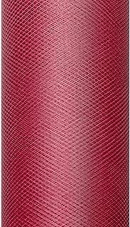 9m long/15cm de large Fine Tulle Rouleau de tulle en tulle décoratif en tissu Chemin de table–bordeaux