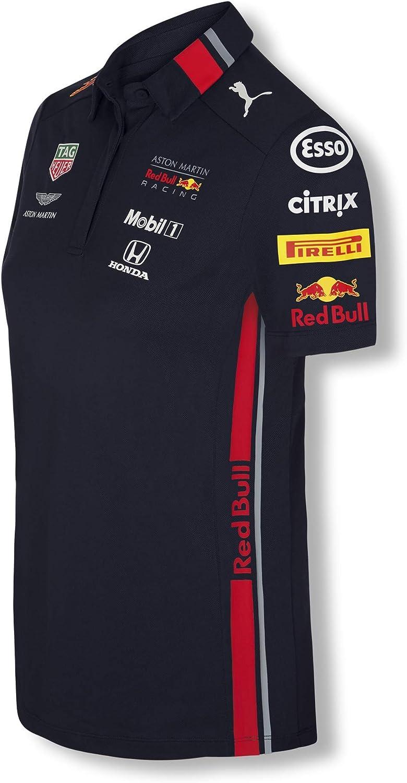 Red Bull Racing Official Teamline Camisa Polo, Azul Mujer Camiseta Manga Corta, Racing Aston Martin Formula 1 Team Original Ropa & Accesorios