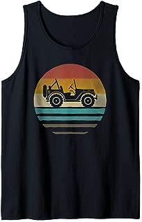Retro Vintage Sunset Jeeps 70s Off Road Wave Men Women Gift Tank Top