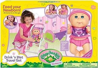 Cabbage Patch Kids Drink N' Wet Travel Set Doll