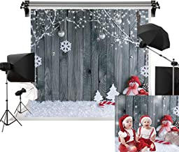 Kate 20x10ft/6m(W) x3m(H) Holiday Christmas Background Photography Wood Wall Cotton Bokeh Backdrops Photography Studio Christmas Backdrops