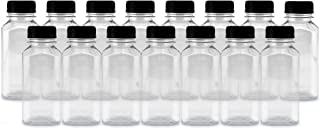 8-Ounce Plastic Juice Bottles (15-Pack); Great for Milk, Juice, Smoothies, Lunch Box & More
